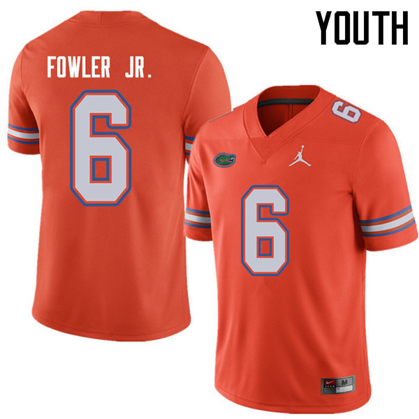Jordan Brand Youth #6 Dante Fowler Jr. Florida Gators College Football Jerseys Sale-Orange